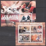 A66 2010 REPUBLIQUE TOGOLAISE SPORT MARTIAL ART LEGENDS FIGHTING KB+BL MNH