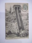CPA Marseille Les Ascenseurs Et Notre Dame De La Garde  19.. T.B.E
