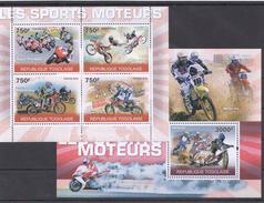 A68 2010 REPUBLIQUE TOGOLAISE MOTOCYCLES SPORT MOTO GP KB+BL MNH