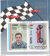 Ajman 1969 Automobilismo J. P. Wimille - Alfa Romeo 158 Sheet Perf. Nuovo Preoblt.