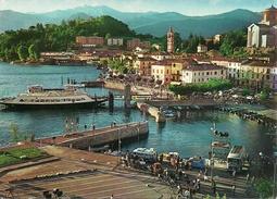 Laveno (Varese, Lombardia) Lago Maggiore, Panorama Con Imbarcadero E Battello (Motorschiff) Furgoni Philips - Varese