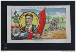 Old 1920's WW1 Trading Card/ Chromo -The European War -Nicholas I Of Montenegro - Chocolate
