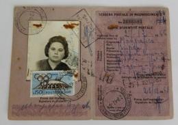 Eba-1 TESSERA POSTALE DI IDENTITA', ITALIA AL LAVORO, ISOLATO,  L.200 - 4. 1944-45 Social Republic