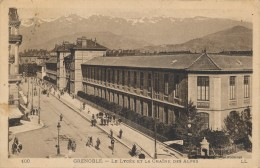 G53 - 38 - GRENOBLE - Le Lycée Et La Chaine Des Alpes - Grenoble
