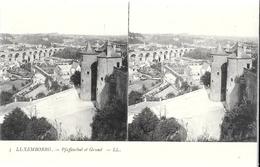 0921 STEREO - LUXEMBOURG - PFAFFENTBAL ET GRUND - Luxemburg - Town