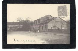 Provins - La Gare Du Chemin De Fer (scans R/V) - Provins