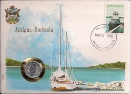 1986 Antigua-Barbuda Mi. 939 Münzbrief Nov. 4  1986