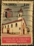 COLOMBIA 1964 Airmail - National Pantheon, Veracruz Church. USADO - USED
