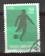 Turkey 1974 Football, Soccer, Mi 2346, Cancelled(o)