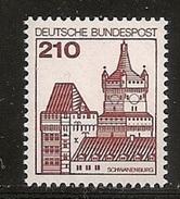 Deutschland 1978/1979, Nr. 998 Burgen Und Schlösser Schwanenburg, Kleve Postfrisch Mnh, Bundesrepublik
