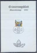 Germany 1982 Card Minerals Mineraux Bergbau Mines Mineralogy Mining Grube Dorothea Claustral Mineralien Tage München