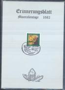 Germany 1982 Card Minerals Mineraux Bergbau Mines Mineralogy Mining Bergkristall; Mineralien Börse Siegen