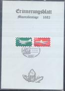 Germany 1982 Card Minerals Mineraux Bergbau Mines Mineralogy Mining Bergkristall; Mineralien Messe Frankfurt