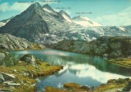 Gruppo Adamello (Brescia, Lombardia) Lago Mandrone E Le Tre Lobbie, Cresta Croce Sul Fondo - Brescia