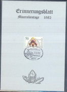 Germany 1982 Card Minerals Mineraux Bergbau Mines Mineralogy Mining; Orchids Fossilen Borse Dortmund Fosil Fossil
