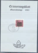 Germany 1982 Card Minerals Mineraux Bergbau Mines Mineralogy Mining ; Fossilen Borse Fellbach Fosil Fossil