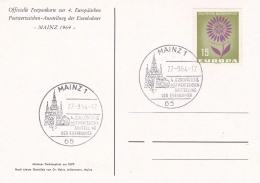 Germany Postcard Mainz 1964 Stamp Exhibition (T8A20)