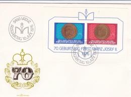 Liechtenstein FDC 1976 Fürst Franz Josef II Minisheet (T8A20)
