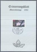 Germany 1982 Card Minerals Mineraux Bergbau Mines Mineralogy Mining; Fossilen Borse Stuttgart Fosil Fossil