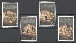 A87 2012 GIBRALTAR SPORT INTERNATIONAL CHESS FESTIVAL 1SET MNH