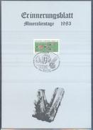Germany 1983 Card Minerals Mineraux Bergbau Mines Mineralogy Mining; Fossilen Borse Fulda Fosil Fossil