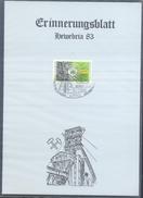 Germany 1983 Card Minerals Mineraux Bergbau Mines Mineralogy Mining;