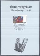 Germany 1983 Card Minerals Mineraux Bergbau Mines Mineralogy Mining;Heidelberg Mineralien Tage; Epidote
