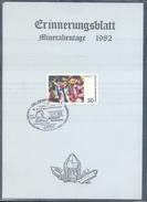 Germany 1983 Card Minerals Mineraux Bergbau Mines Mineralogy Mining; Mineralien Fossilien Börse; Fosil Fossil Nienhausen