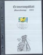Germany 1983 Card Minerals Mineraux Bergbau Mines Mineralogy Mining; Mineralien Tage Dreieich