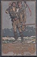 """Bayern 1908 Privat-Ganzsache """"München-Ausstellung"""" ** Nr 180 Bergsteiger Mit Münchner Kindl"""