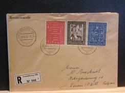 67/621  LETTRE RECOMM. POUR LA BELG. 1958