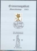 Germany 1983 Card Minerals Mineraux Bergbau Mines Mineralogy Mining; Mineralien Palmatopteris Sarana Fossil Fosil