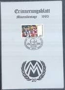 Germany 1983 Card Minerals Mineraux Bergbau Mines Mineralogy Mining Mineralientage Messe München Au Gold