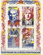 BF 12 Bicentenaire REVOLUTION 1989 OBLITERE ANNEE 1990