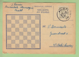 L'Echiquier Belge : Jeu D'Echecs Par Correspondance, 1945. Voir Les 2 Scans. - Echecs