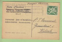 Imprimé Jeu D'Echecs Par Correspondance, 1945. Voir Les 2 Scans. - Chess