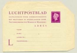 Nederland - 1948 - 10 Cent Hartz LP-blad Voor Militaire Correspondentie Met Nederlands Indië