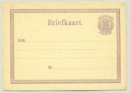 Nederland - 1873 - 2,5 Cent Wapen, Briefkaart G7 - Ongebruikt