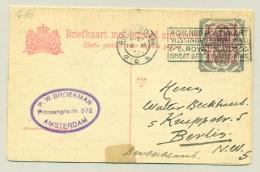 Nederland - 1923 - 12,5 + 12,5 Cent Opdruk Op 5 + 5 Cent Briefkaart,  G160 - Dubbel Gebruikt, Amsterdam / Berlin