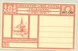 Nederland - 1926 - 10 Cent Opdruk Op Geïllustreerde Briefkaart G214e - Leiden Morschpoort - Ongebruikt - Ganzsachen
