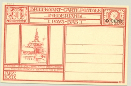 Nederland - 1926 - 10 Cent Opdruk Op Geïllustreerde Briefkaart G214e - Leiden Morschpoort - Ongebruikt