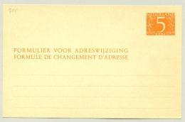 Nederland - 1954 - 5 Cent Van Krimpen, Verhuiskaart G25 - Ongebruikt
