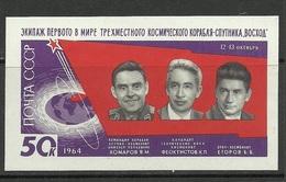 RUSSLAND RUSSIA 1964 Block Mi 37 Raumfahrt Space MNH