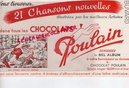 41 - BLOIS - BUVARD POULAIN CHOCOLAT - DEMANDEZ LE BEL ALBUM A VOTRE FOURNISSEUR- CHOCOLATERIE- M. DUMOLLET - Chocolat