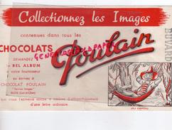 41 - BLOIS - BUVARD POULAIN CHOCOLAT - DEMANDEZ LE BEL ALBUM A VOTRE FOURNISSEUR- CHOCOLATERIE- JOLI CHAPEAU HAMAC - Chocolat