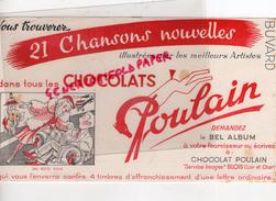 41 - BLOIS - BUVARD POULAIN CHOCOLAT - 21 CHANSONS NOUVELLES- MA PETITE FOLIE- ELEPHANT - Chocolat