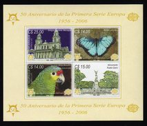 Nicaragua 2005 Europa S/Sheet Mnh Imperforated With Parrot And Butterfly. - Europa-CEPT