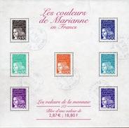 France Oblitération Cachet à Date BF N°  41 (3086 à 3090 + 3097 Et 3099)  Les Couleurs De Marianne