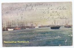 CPA Fremantle Australie Western Australia Harbour  Published By The Bon Marché Stores Perth écrite 1907 - Fremantle