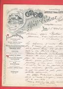 FACTURE 1903 POIS CASSES CERTEUX 3 RUE OBLIN A PARIS USINE 8 PASSAGE DE L ATLAS A PARIS 19 FARINE RIZ FECULE AMIDON - France
